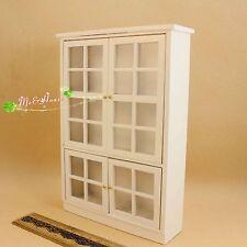 1:12 miniature dollhouse  fitting white bookcase cupboard  Puppenhaus