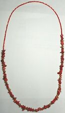 Navajo Ghost Cedar Beads Juniper Berry, Coral nuggets 30 inch Necklace