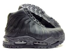 f533f00ff89a Nike Air Max Foamdome Size 9.5 Foamposite BOOTS Triple Black 843749-002