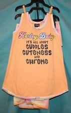 Harley-Davidson Little Girls 3pc Outfit Set-2 pack Sundress/Panties #9022911