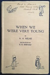 When We Were Very Young by A A Milne, 1927 - Sixteenth Edition, E. H. Shepard
