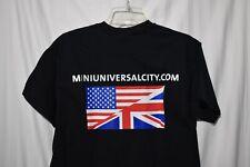 Mini cooper Universal black T shirt flags size Medium