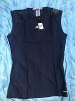 BNWT Mens ADIDAS TECH FIT TECHFIT Preparation Sleeveless Dark Blue POWERWEB XL
