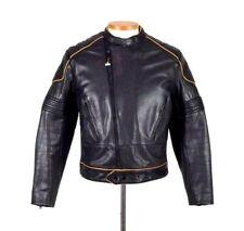 Vtg 70s Schott Bomber Racer Jacket Black Leather Motorcycle Biker Crop Cafe 42