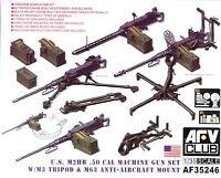 AFV Club 1/35 AF35246 US M2HB .50 Cal Machine Gun Set w/M3 Tripod & M63 AA Mount