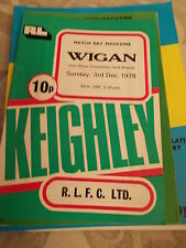 3.12.78 Keighley v Wigan programme John Player Competition