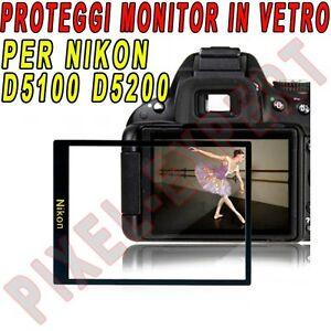 PROTEZIONE DISPLAY FOTOCAMERA PER NIKON D5200 COPRI MONITOR SCREEN PROTECTOR