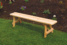 Outdoor 4 Foot Traditional Picnic BENCH ONLY!! *Unfinished Pine* Amish Made USA
