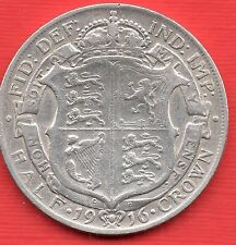 KING GEORGE V 1916 Silver First Coinage Half Crown  .925  Silver
