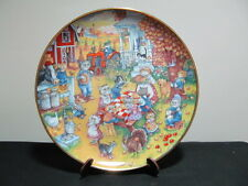 Thanksgiving Collector Plates Franklin Mint Purrfect Feast