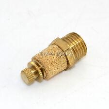 Pneumatic Muffler Silencer Filter Flow Speed Controller Sintered Bronze NPT 1/4