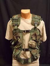 U.S. Military Issue 6 Mag Enhanced Tactical Load Bearing Vest w/ Large Web Belt