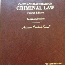 Cases and Materials on Criminal Law by Joshua Dressler (2007, Hardcover)