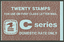 """BK141, the $4.00 """"C"""" Rate Booklet from 1981 with Scott 1948"""