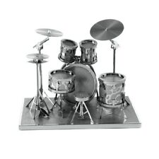 3D Metal Model Puzzle Drums Set Gift Toy Laser Cut Jigsaw Building NEW