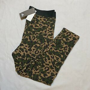 Women's Adidas Originals Multi Sport All-Over Army Print Tights Size XL