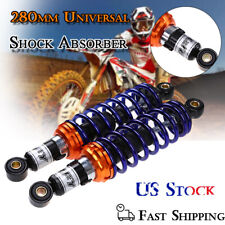 "Pair 11"" 280mm Rear Shock Absorber Suspension Round For Ducati Honda BMW ATV PSB"