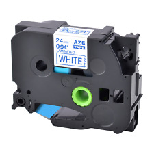 For Brother P Touch Pt 9200 E500 Tz Tze 253 Blue On White Label Tape 24mm8m