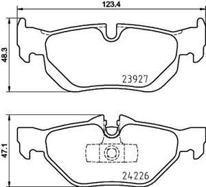 Hella Pagid Rear Brake Pads - DB1858H fits BMW 1 Series E87 116i 120i 130i 118d