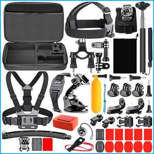 GoPro 3 4 5 6 7 8 9 Accessories Set Mounts Eva Case Action Camera Sport Kit