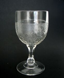 EAPG Specialty Glass Stippled Maiden Hair Fern Early American Pattern Goblet