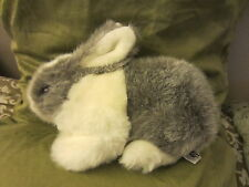 MERVYN'S Playful Pals grey white BUNNY RABBIT EASTER Plush Stuffed Animal KOREA