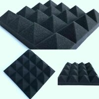Soundproofing Foam Acoustic Studio Tiles Wedge Panels Pack Wall Sound 12 Pcs New
