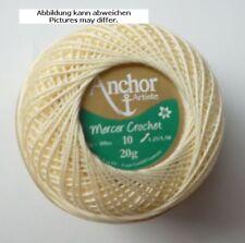 fil à crochet Anchor Mercer Crochet 20 g ST.10 jaune clair fb.275