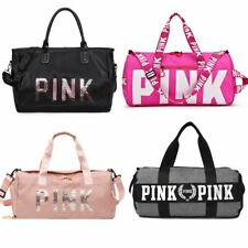 Large Capacity Travel Gym Tote Travel Bags Pink Casual Sequins Shoulder Portable