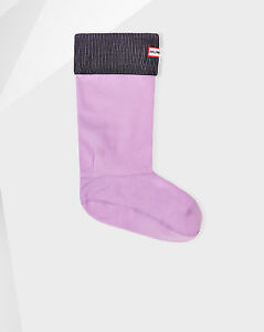 HUNTER ORIGINAL Tall BOOT SOCKS Black / Bright Lavender ( XL ) US 11-13