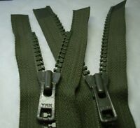YKK VISLON 8VS GREEN TWO WAY OPEN ZIP - HEAVY DUTY - various lengths Jacket Rpr
