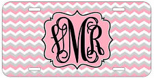 Personalized Monogrammed Chevron Pink Grey License Plate Custom Car Tag L464