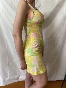 90s Vintage Dolce & Gabbana Psychedelic Mod Bustier Mini Dress size 26/40