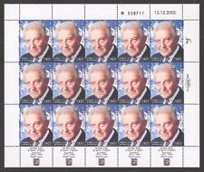 Israel 2006 Ezer Weisman Full Sheet Scott 1632 Bale 1629