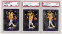 (3) Card Lot 2019 Panini Prizm #129 LeBron James Lakers PSA 9 Graded MINT INVEST