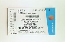 MICKY FLANAGAN TICKETS - Memorabilia / Ticket Stub Sheffield Arena 12/05/17