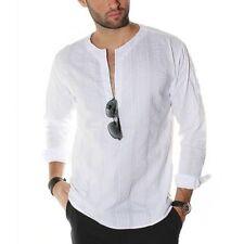 Polyester Long Sleeve Regular 3XL Casual Shirts for Men