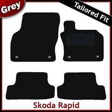Skoda Rapid 2012 2013 2014 Tailored Fitted Carpet Car Mats GREY