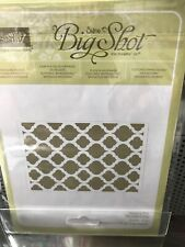 stampin up sizzix big shot modern mosiac embossing folder