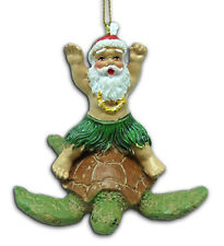 hawaiian christmas ornaments santa claus surf turtle poly resin hawaii holiday n