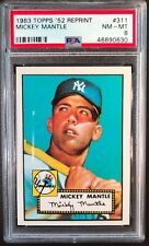 1983 Topps 1952 311 Mickey Mantle PSA 8 NM Mint - Looks GREAT!