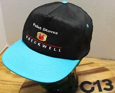 BRECKWELL PELLET STOVES SNAPBACK ADJUSTABLE HAT EMBROIDERED BLACK/GREEN VGC C13