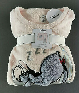 Disney Winnie Puuh Esel I-aah Damen Fleece Pyjama Schlafanzug Hausanzug XS-XL