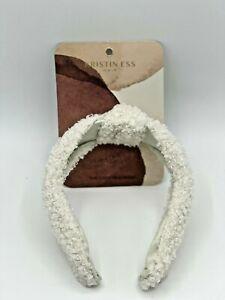 Kristin ESS Hair The Cozy Headband white. 100% Polyester Free shipping