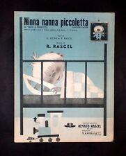 Musica spartiti - Ninna nanna piccoletta - R. Rascel - Canzone valzer per piano