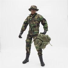 1/6 Scale Uniforms Coveralls Suit Woodland camo+hat Backpack B005 Action Figure