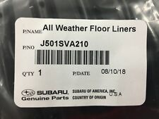 2015-2020 Subaru All Weather Floor Mats WRX STI J501SVA210 OEM Genuine 4 SET New