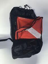 Clean Scuba Diving Snorkeling Dive Flag Mesh Gear Bag Backpack & Shoulder Strap