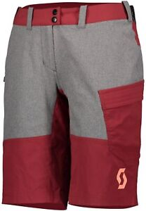 Scott Trail Flow (With Pad) Womens Cycling Shorts - Red