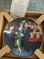 1990 I Love Lucy Night at the Copa Hamilton Collection Plate Mint